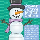 Winter Snowman Listening Reading Crafty Center Extension ~