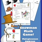 Winter Snowman Math Game - Addition, Subtraction or Multip