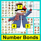 Winter Math Centers: Snowman Triangle Facts - 102 Fact Fam