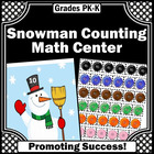 Winter Snowmen Math Counting Center