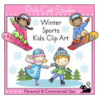 Winter Sports Kids Clip Art – Personal or Commercial Use
