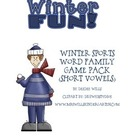 Winter Sports Word Family Games