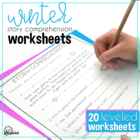 Winter Story Comprehension Worksheets