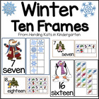 Winter Ten Frames Unit (Penguins, Snowmen, Children)