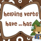 Winter Theme Helping Verbs have has MIMIO lesson
