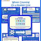 Winter Theme Number Line Skip Counting Lesson for the Smart Board