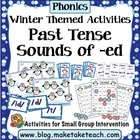 Winter Themed Inflected Endings Past Tense Bundle