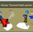 Winter Themed Intermediate Math practice sheets With Keys