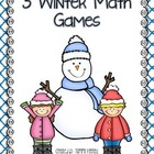 Winter Themed Math Games: 3 Centers for K-2