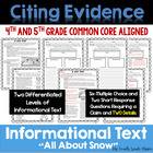 Winter Themed Nonfiction Text Practice {aligned to Common
