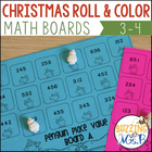 Winter Themed Roll and Color Math Boards