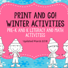 Winter Time Fun Pre-K and K Activities