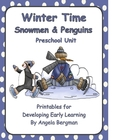 Winter Time with Snowmen and Penguins ~ JUMBO Preschool Pack