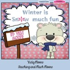 Winter Unit  { literacy, math, art, center, common core al