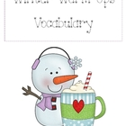 Winter Warm Up Vocabulary and Literacy