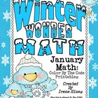 Winter Wonder Math ~ January Math Printables Color By The Code