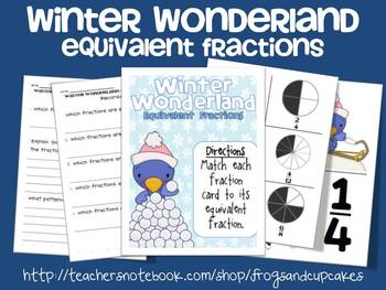 Winter Wonderland: Equivalent Fractions