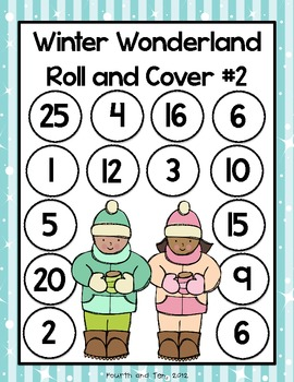 Winter Wonderland Multiplication Roll and Cover Freebie