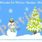 Winter Wonderland Number Word Learning Center Games