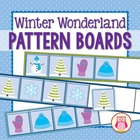 Winter Wonderland Pattern Boards for Preschool and Kindergarten