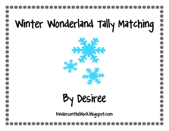 Winter Wonderland Tally Marks