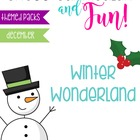 Winter Wonderland Unit for Big Kids