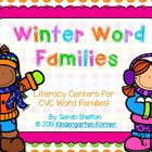 Winter Word Families - Literacy Centers