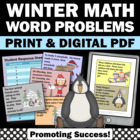 Winter Word Problems Math Game + Task Cards