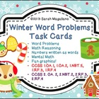 Winter Word Problem Math Task Cards
