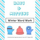 Winter Word Work: Hats and Mittens