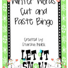 Winter Words Cut and Paste Bingo