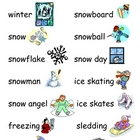 Winter Words File Folder Word Wall
