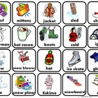 Winter Words Matching/ Memory Game/Flashcards for Autism