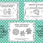 Winter Worksheet & HW {{BUNDLE}}