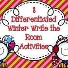 8 Differentiated Winter Themed Write the Room Activities