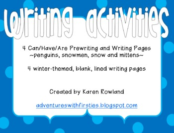 Winter Writing Activities - Can/Have/Are and more!