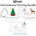 Winter Writing Paper for Snowman, Reindeer, and Christmas Tree