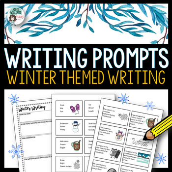 Winter Writing Prompts - 64 Story Starter Task Cards