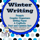 Winter Writing {Prompts, Organizers, Paper, a Craftivity,