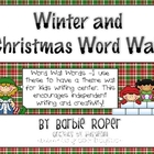 Winter and Christmas Word Wall