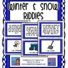 Winter and Snow Riddles