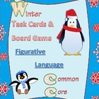 Winter common core figurative language task cards / board