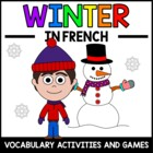 Winter in French - vocab. sheets, worksheets, matching & b
