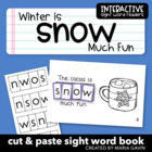 "Interactive Sight Word Reader ""Winter is Snow Much Fun"""