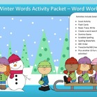 Winter spelling packet FREE by SpellingPackets.com