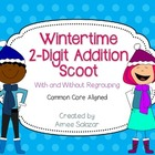 Wintertime 2-Digit Addition Scoot-w/ and w/o Regrouping {C