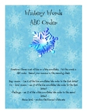 Wintery Words ABC Order
