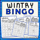 Wintry Bingo Black and White Version