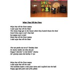 """Wipe That Off the Floor"" A Silly Song/Story"