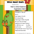 Wise Hoot Owls Back to School Organization Galore